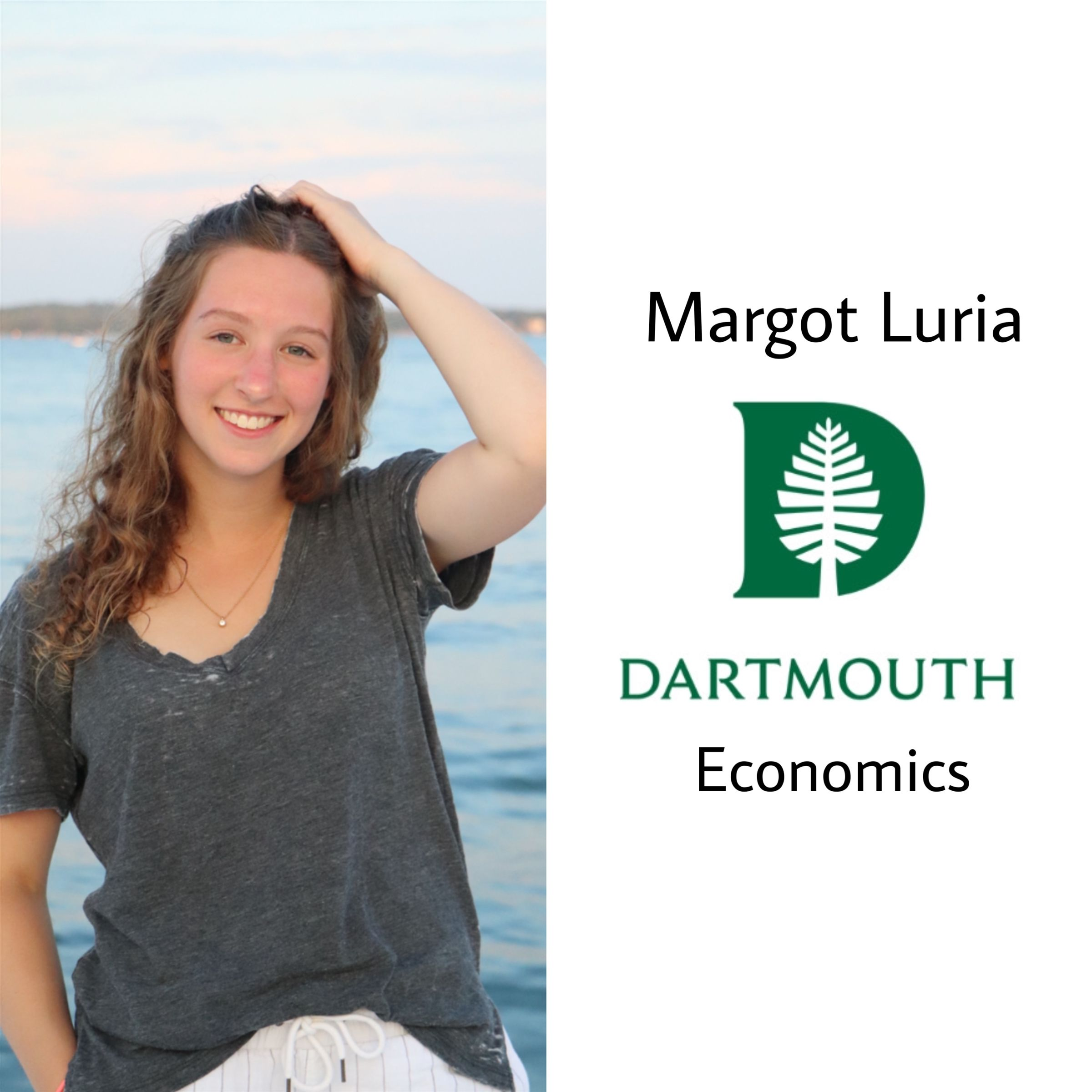 Margot will be attending Dartmouth University next year majoring in economics!! Congrats Margot :)