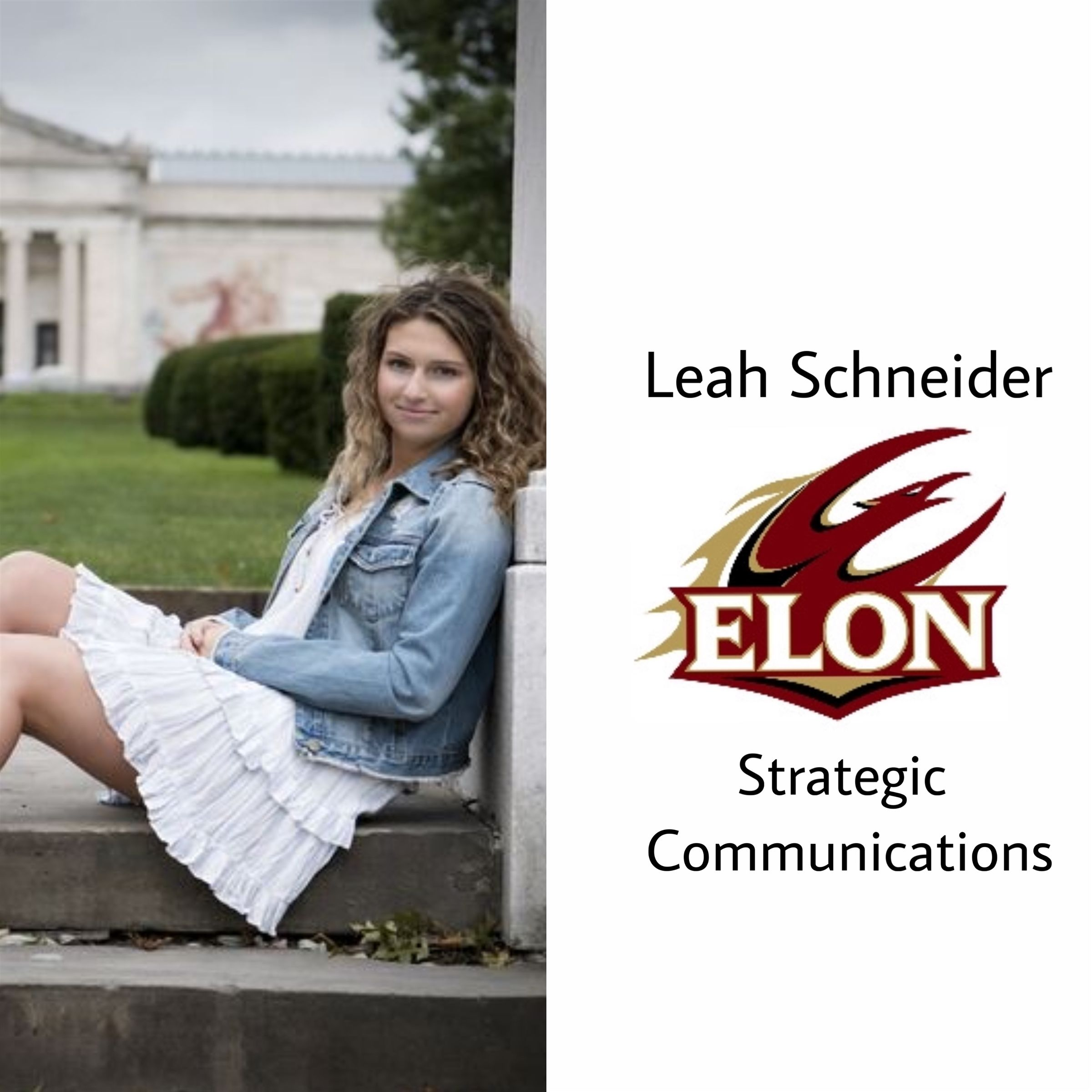 Another to Elon!! Congratulations Leah! She will be majoring in strategic communications next year!