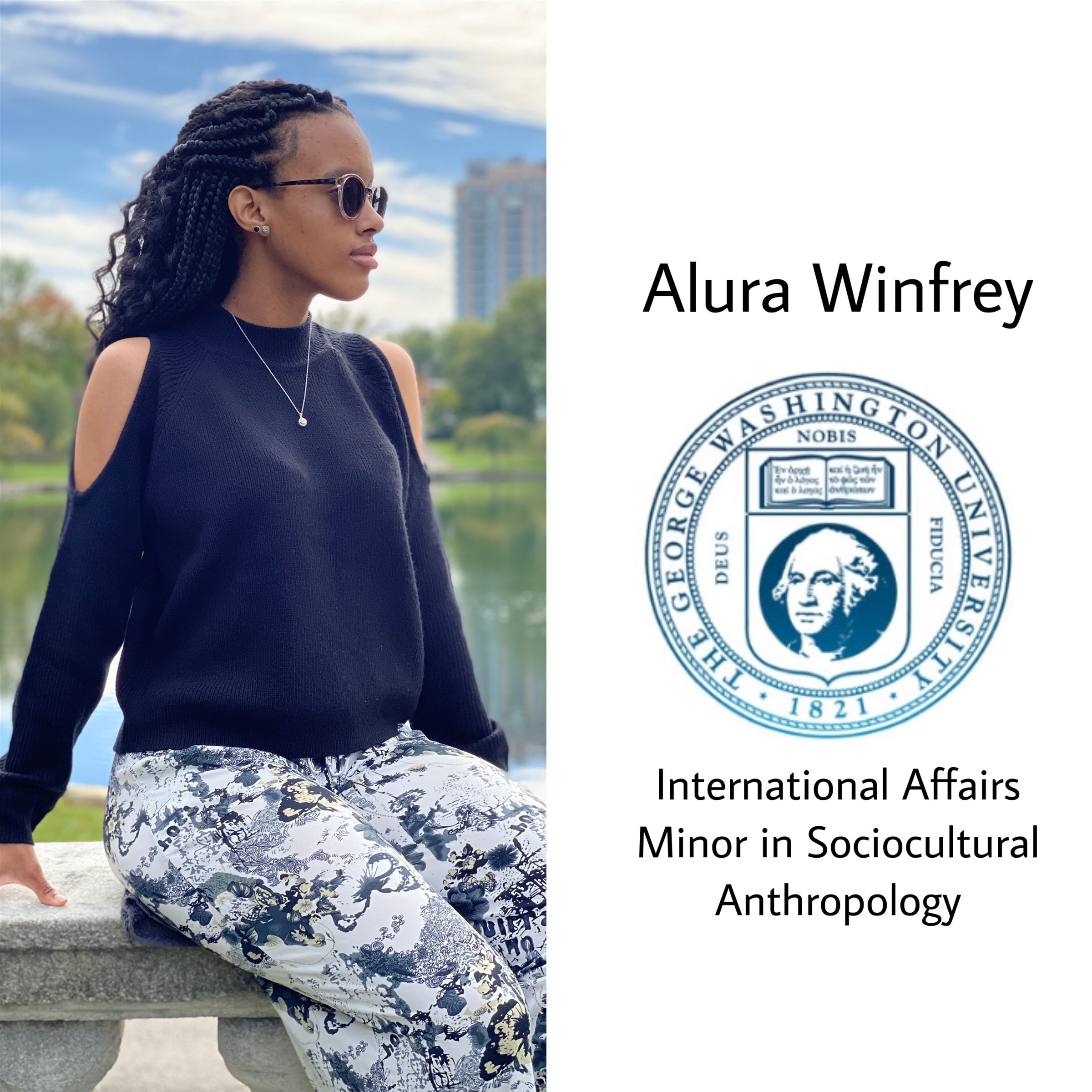 Congratulations Alura!!! She will be attending The George Washington University next fall majoring in International Affairs with a minor in Sociocultural Anthropology