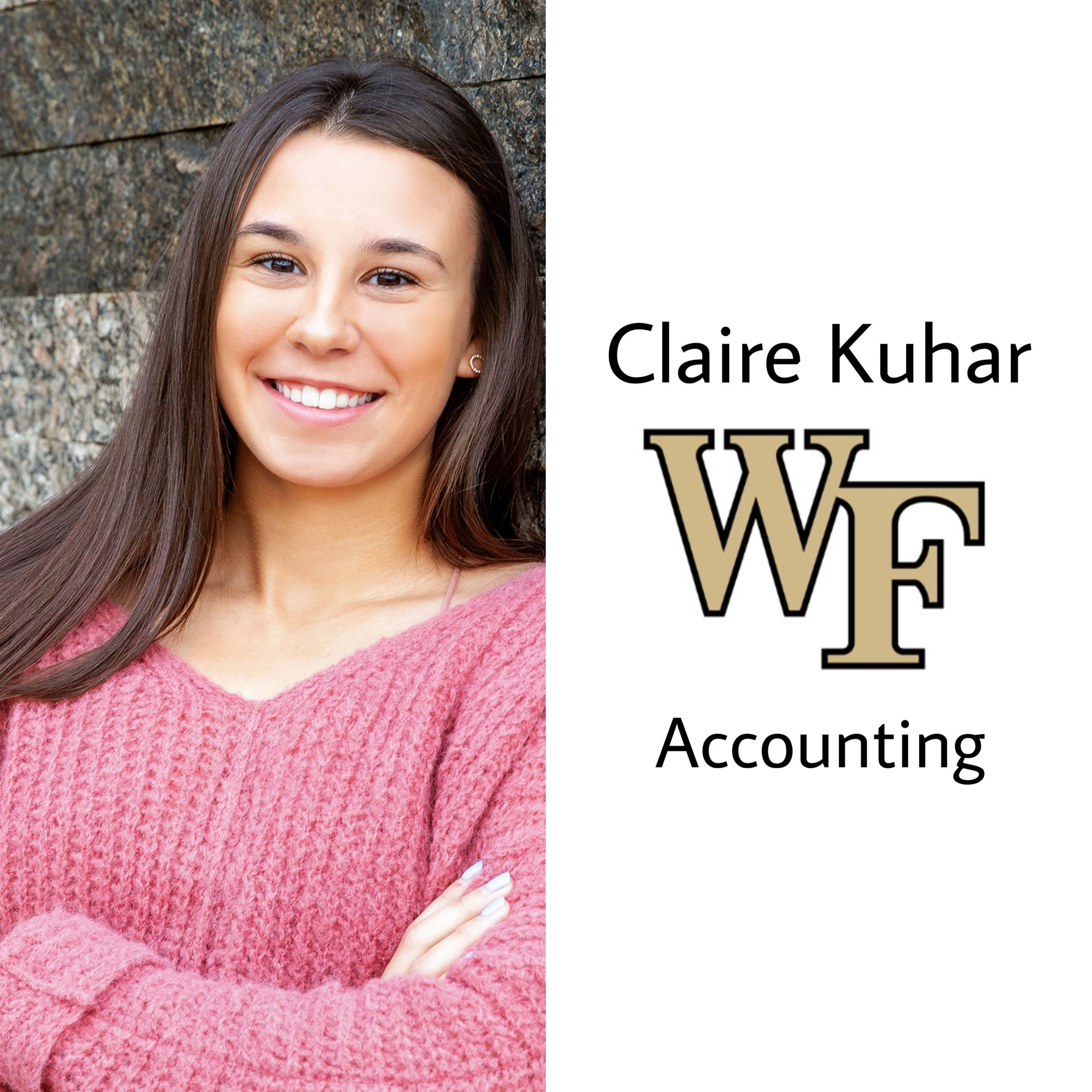 Claire is off to Wake Forest University next year!! She will be majoring in accounting. Congrats and go deacs!!