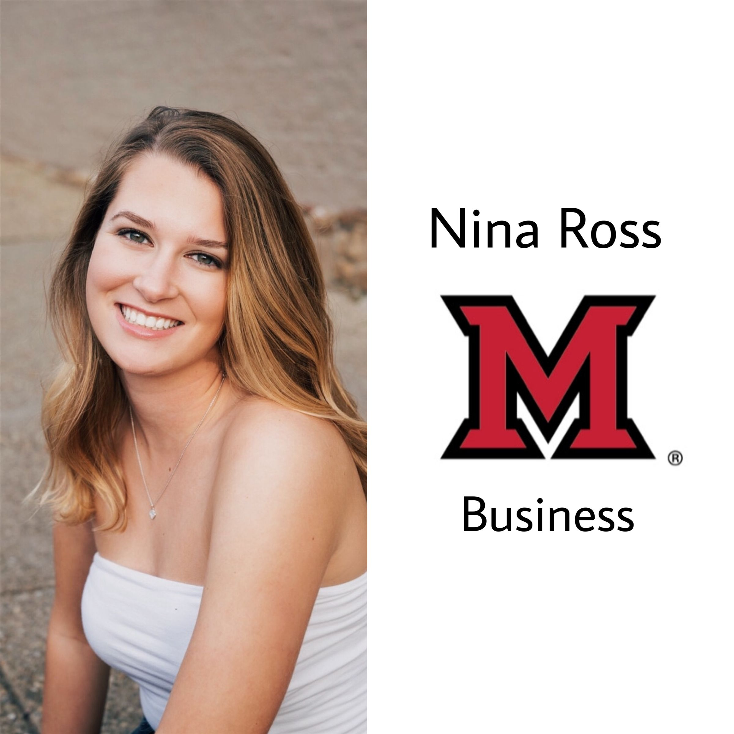 Another one to Miami!!! She will be in Oxford this fall majoring in Business. Congrats Nina!!