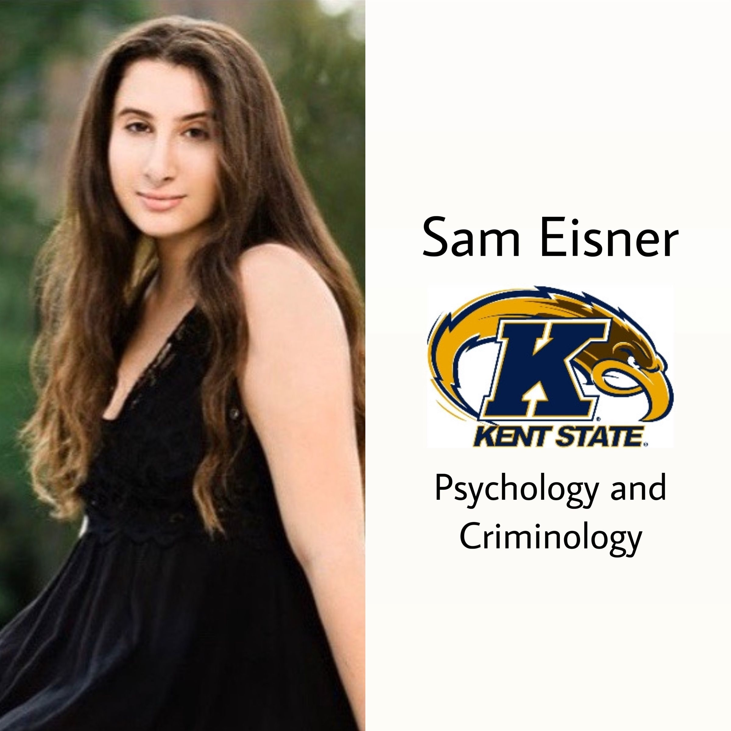 Another golden flash! Congrats Sam!! She will be attending Kent State this fall studying psychology and criminology.