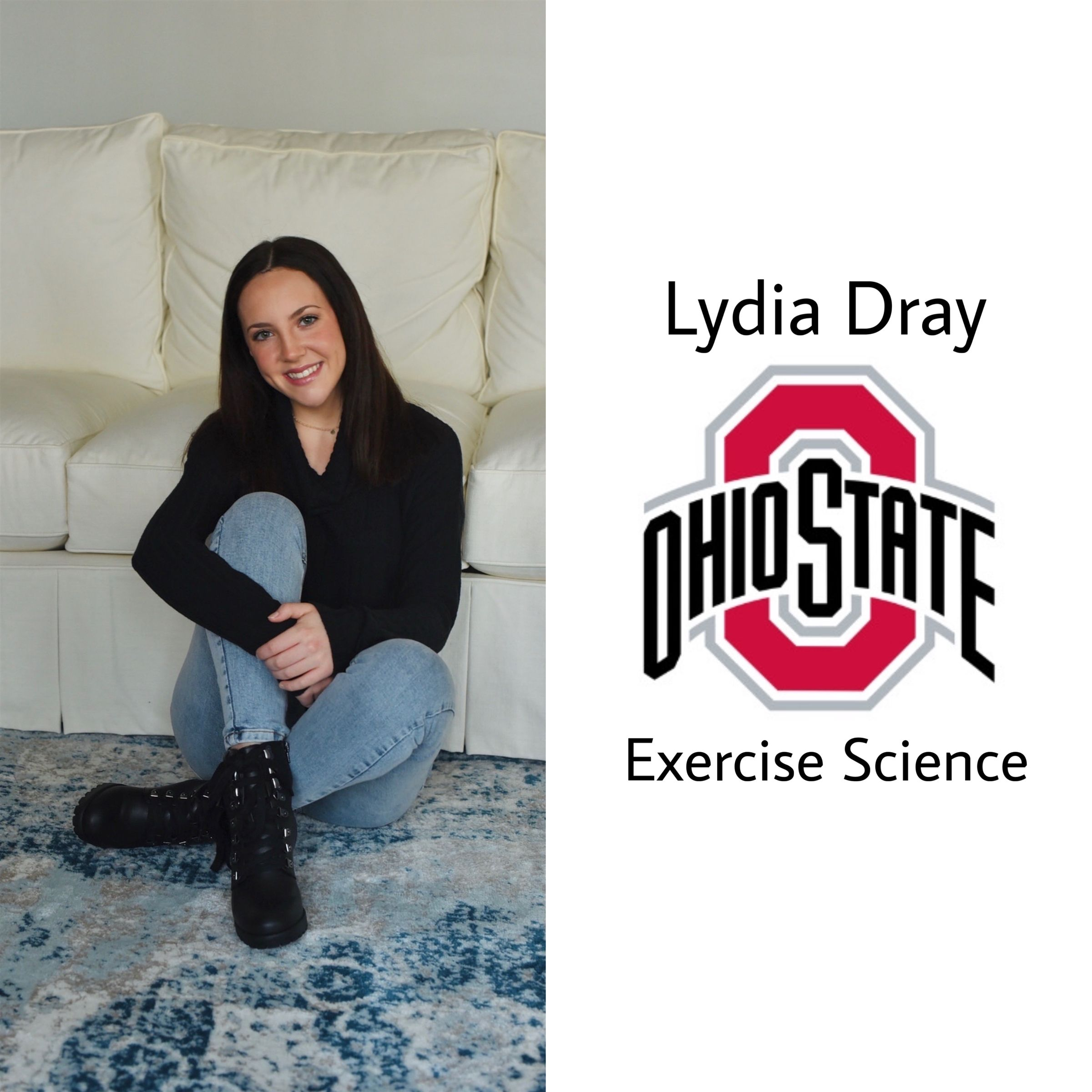GO BUCKS!! Congrats Lydia on t'OSU! She will be in C-bus next year majoring in exercise science!