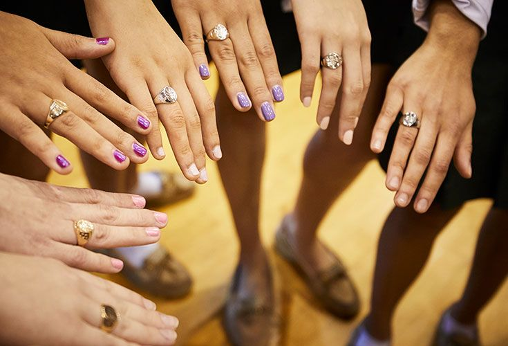 Laurel School's class ring is a unique and beautiful keepsake