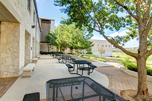 Coates Hall Patio Area