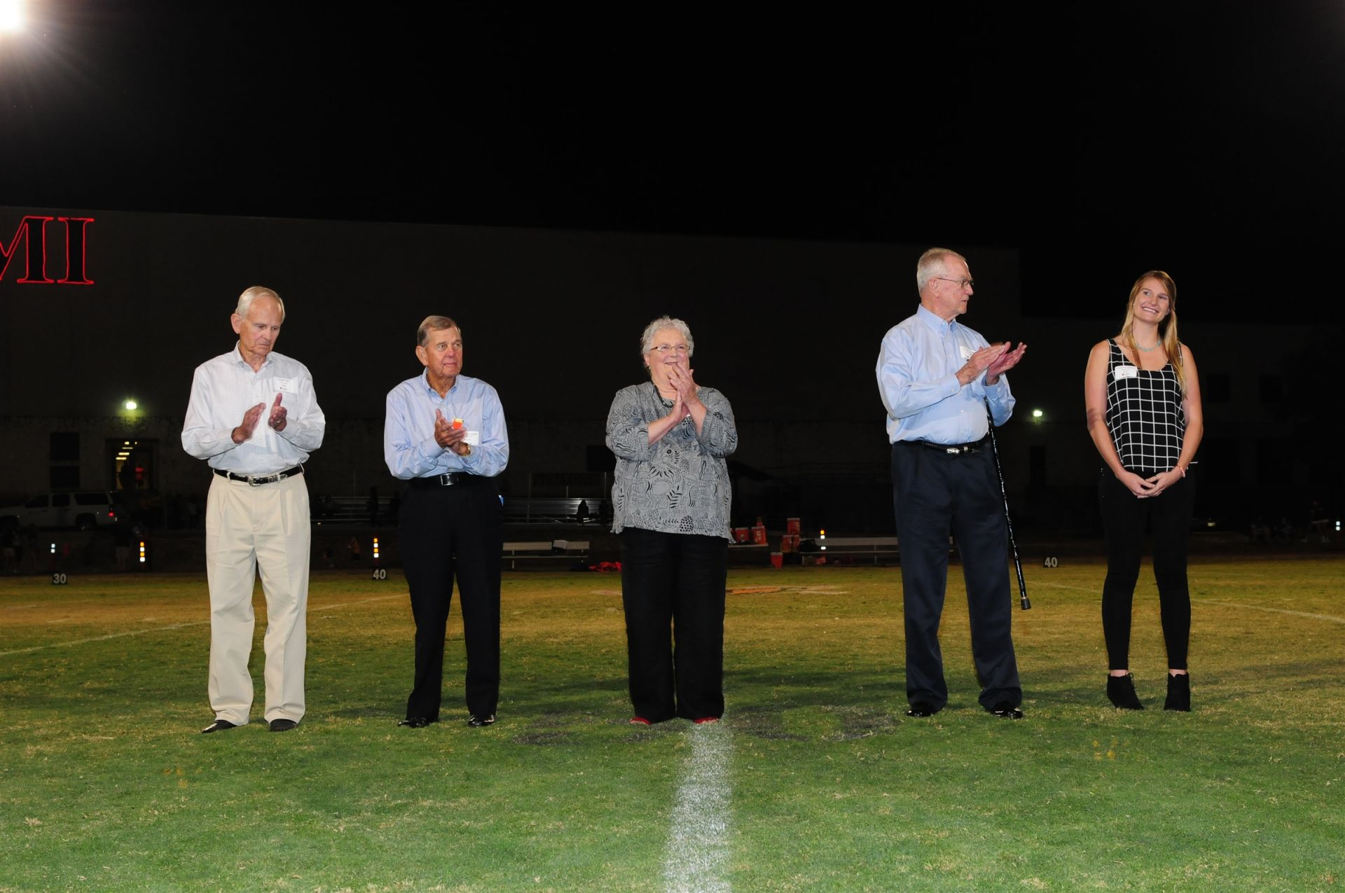 2015 Hall of Fame inductees at Homecoming game