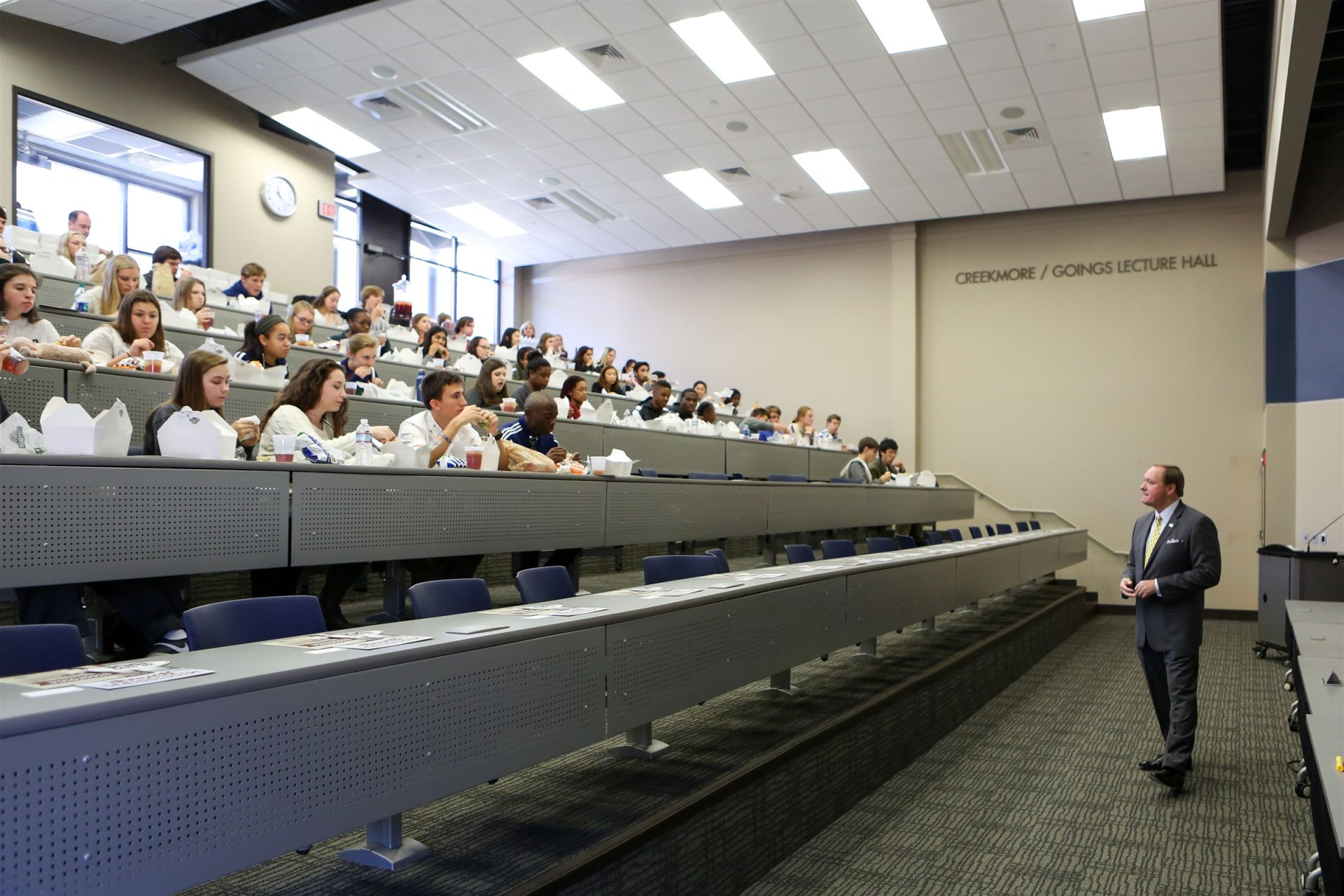 The Science Lecture Hall can accommodate an entire grade level.