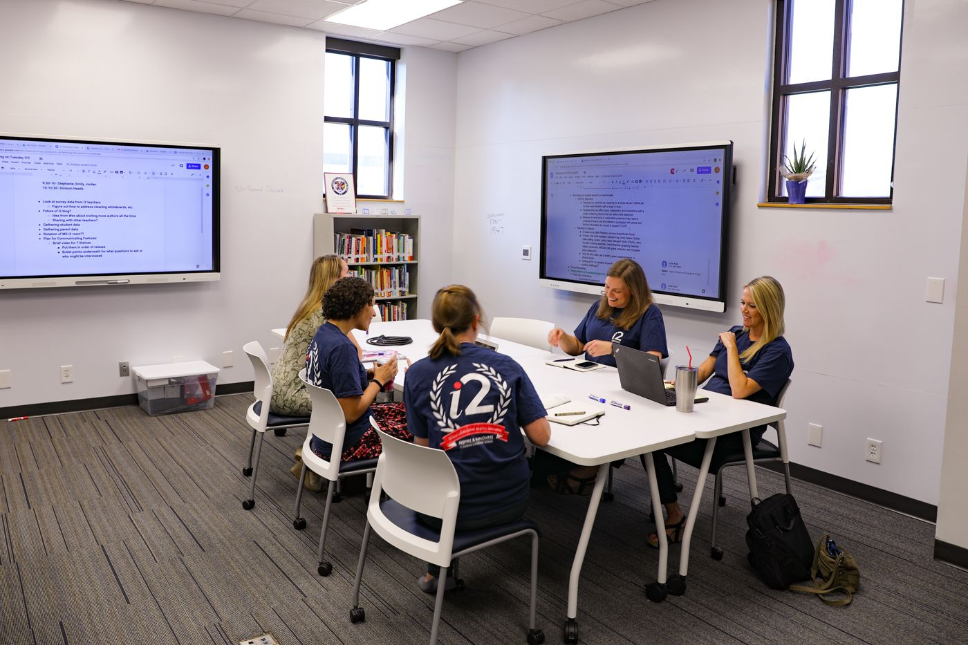 i2 Labs are brainstorming hubs where teachers can go for professional support, additional resources, and fine-tuning of ideas.