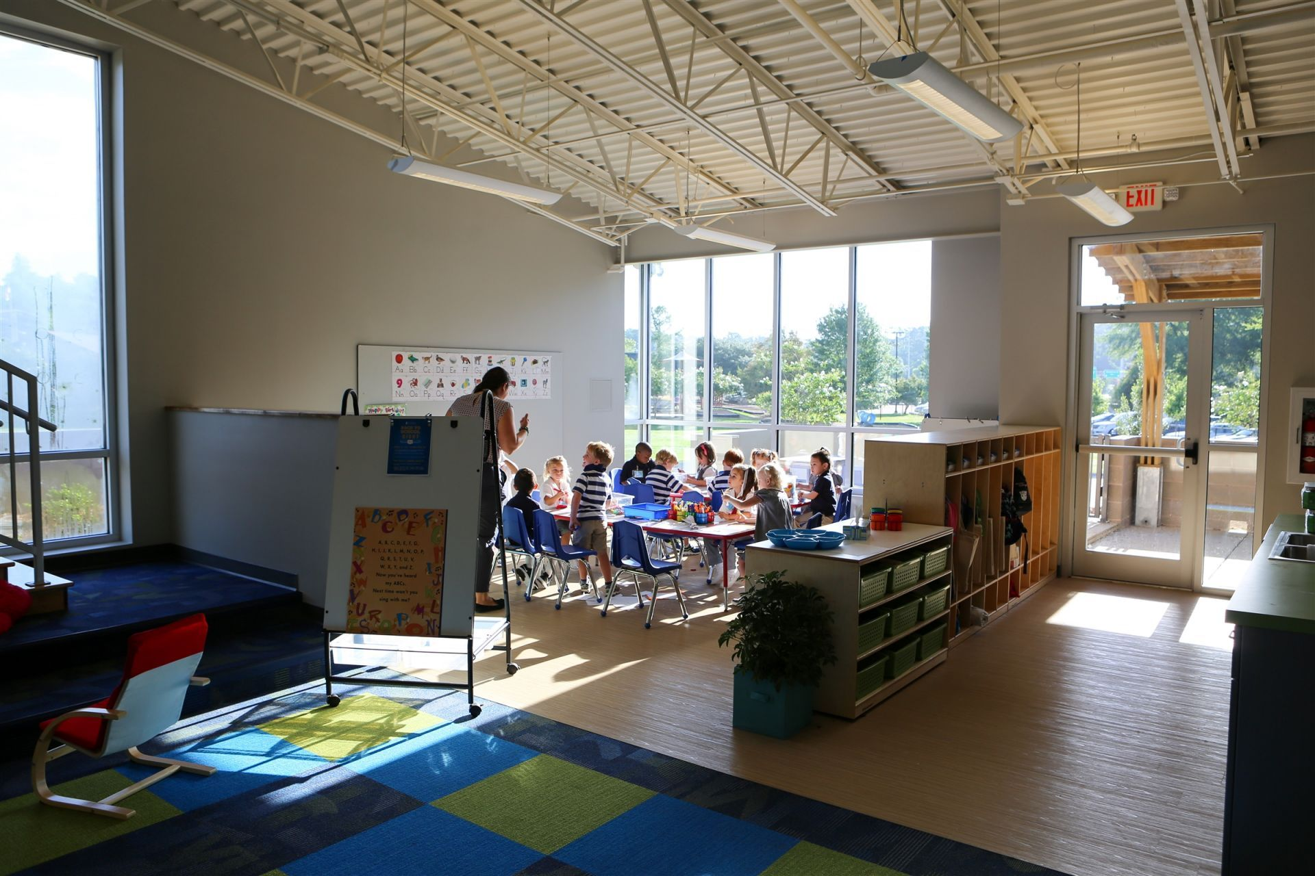 All the Early Childhood classrooms are filled with natural light.