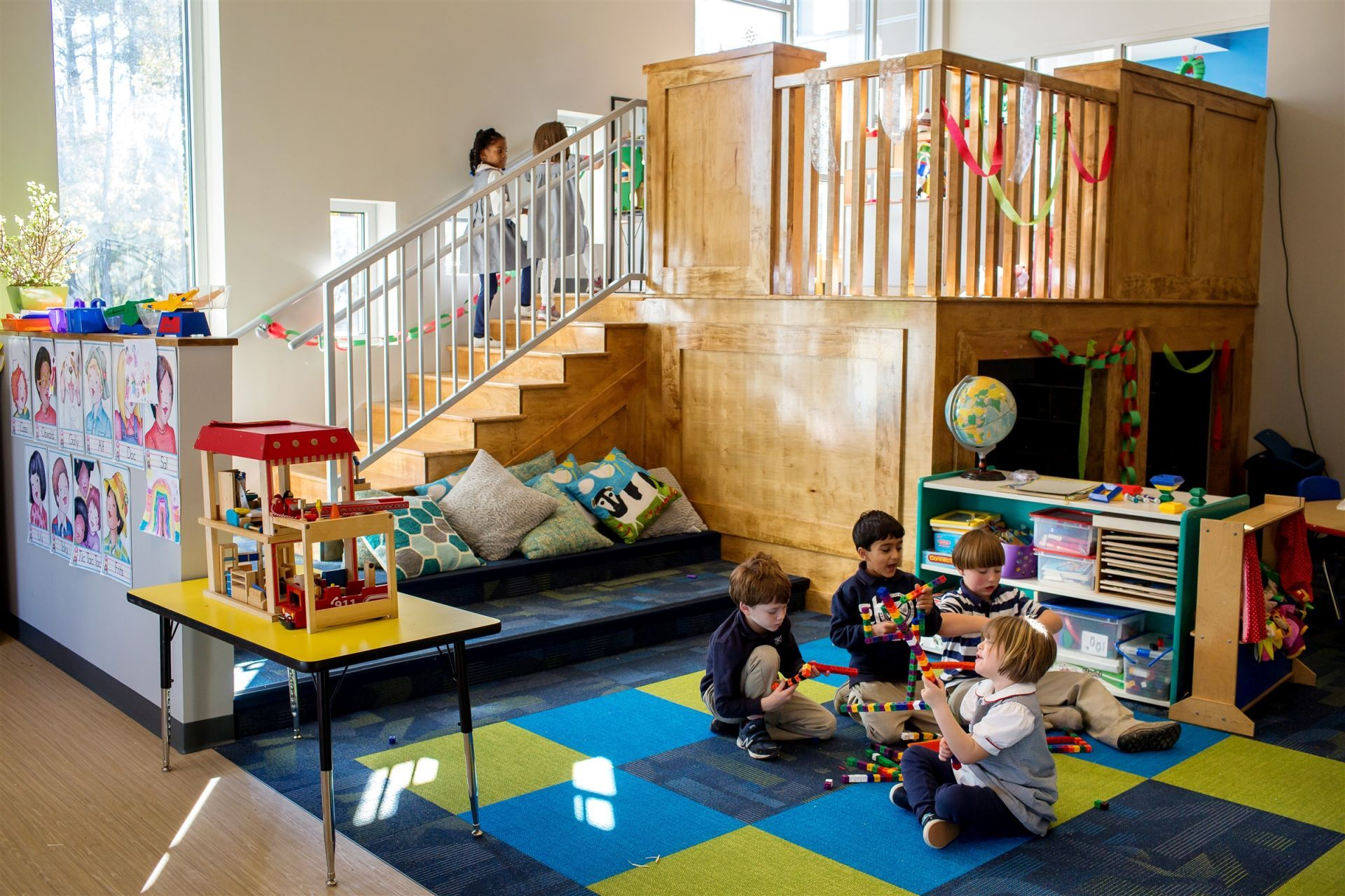 Early Childhood classrooms incorporate many distinct spaces and multiple levels.