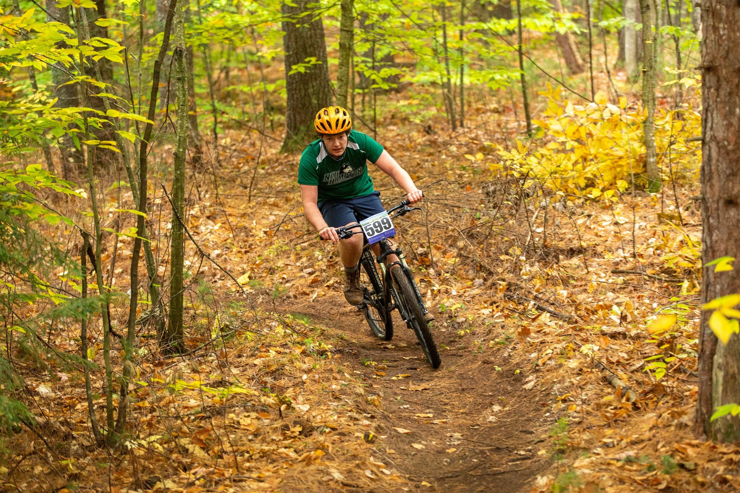 New Hampton School's Mountain Bike Team take to the trails on campus
