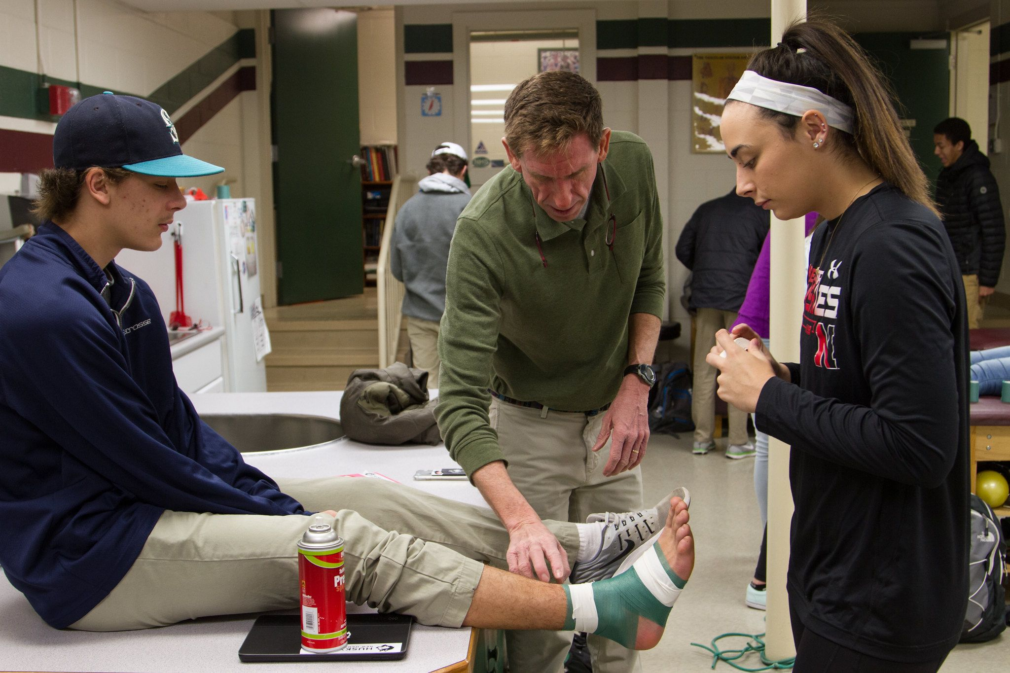 New Hampton School's certified athletic trainers keep students healthy and injury free.