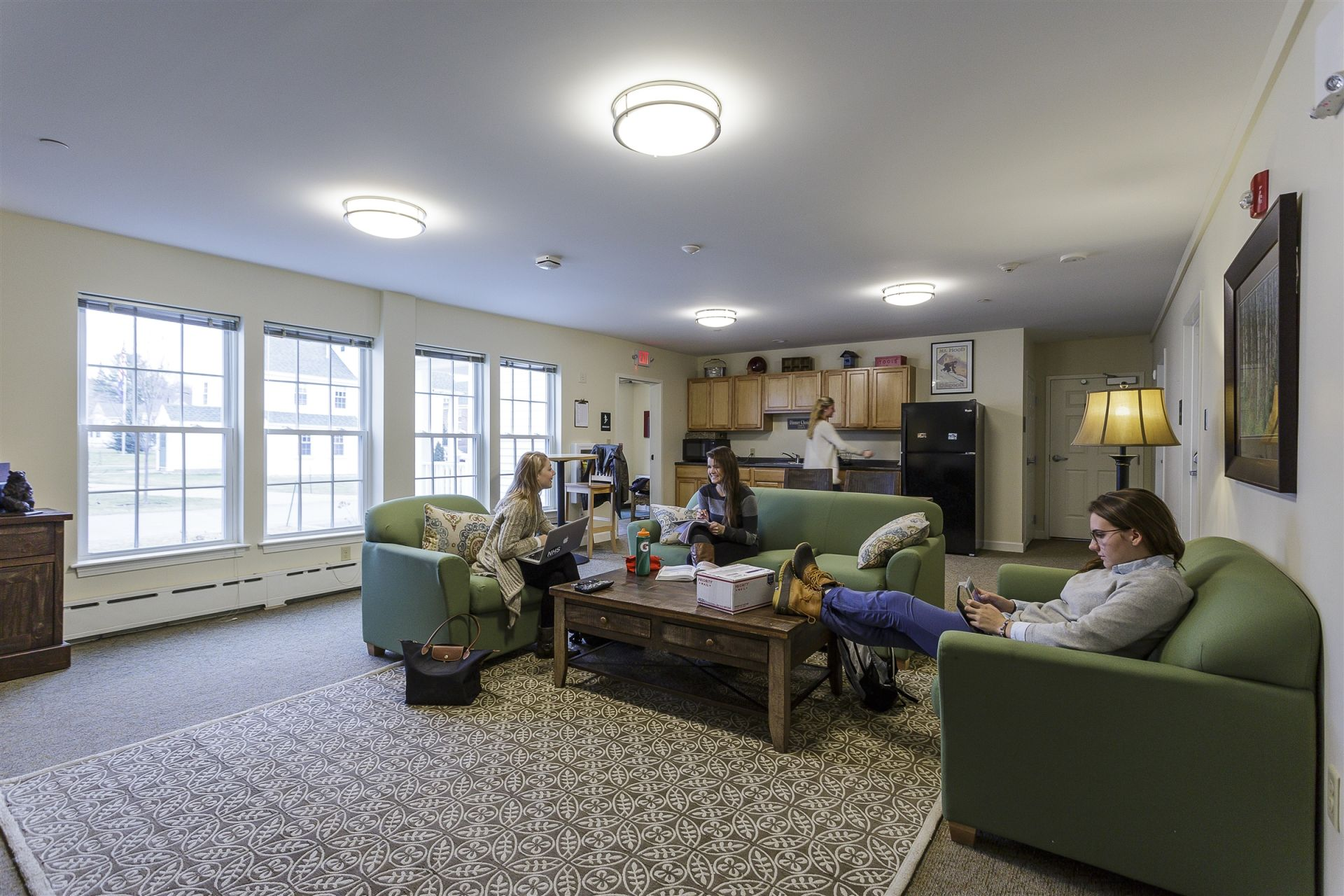 Students live together in residential houses with their dorm parents.