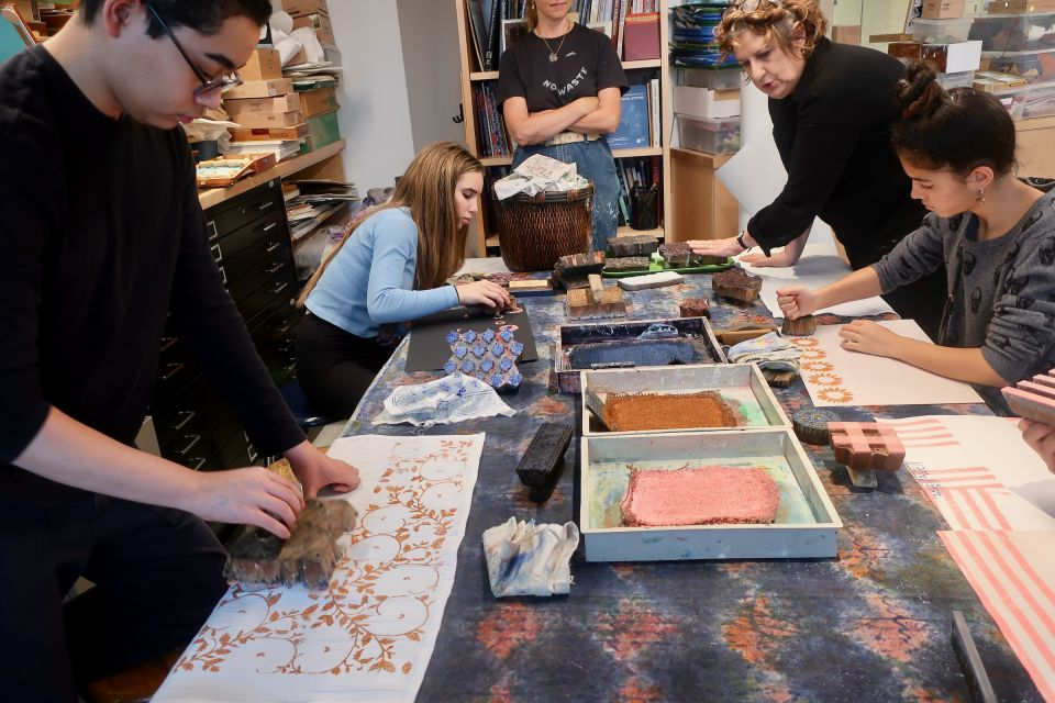 Students Learn the Traditional Technique of Indian Woodblock Printing - 18