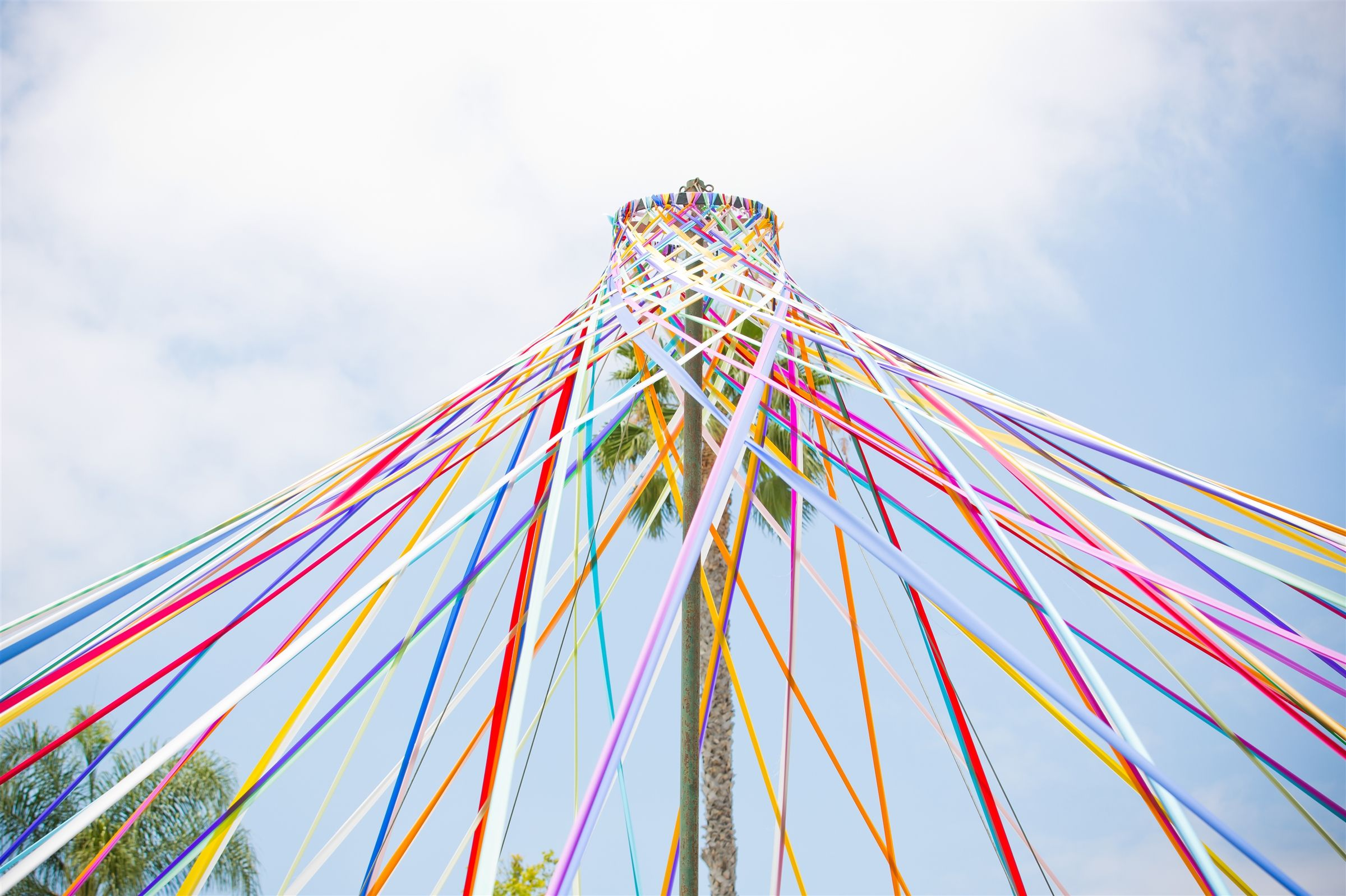 The Maypole has been part of the spring landscape in Brentwood since 1981 when it was originally installed by an anonymous benefactor. Every spring, it appears on Archer's front lawn and on Moving Up Day, 6th grade students weave the Maypole to culminate their first year at Archer.