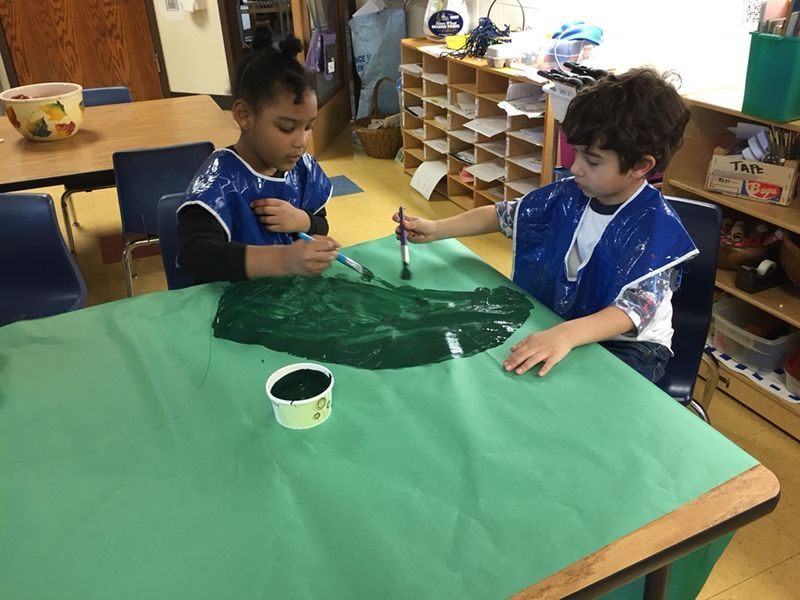 Classes study maps and create an original map of their vision of fairy tale land, measuring the distance from place to place such as from the Giant's castle to The Seven Dwarf's cottage.
