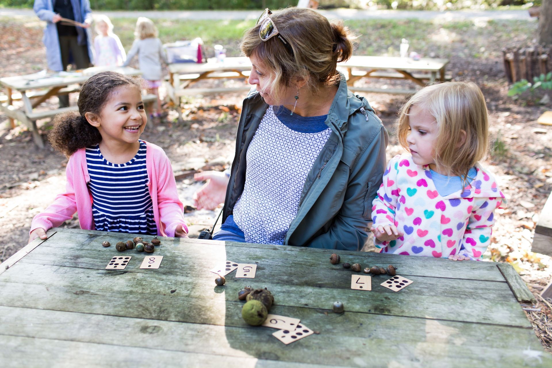 Real-life experiences enable children to utilize social and academic skills and to make the connections for experiencing history, applying math and science or understanding the concept of interdependence. Classroom skills and concepts greatly enhanced when the learning moves outside.