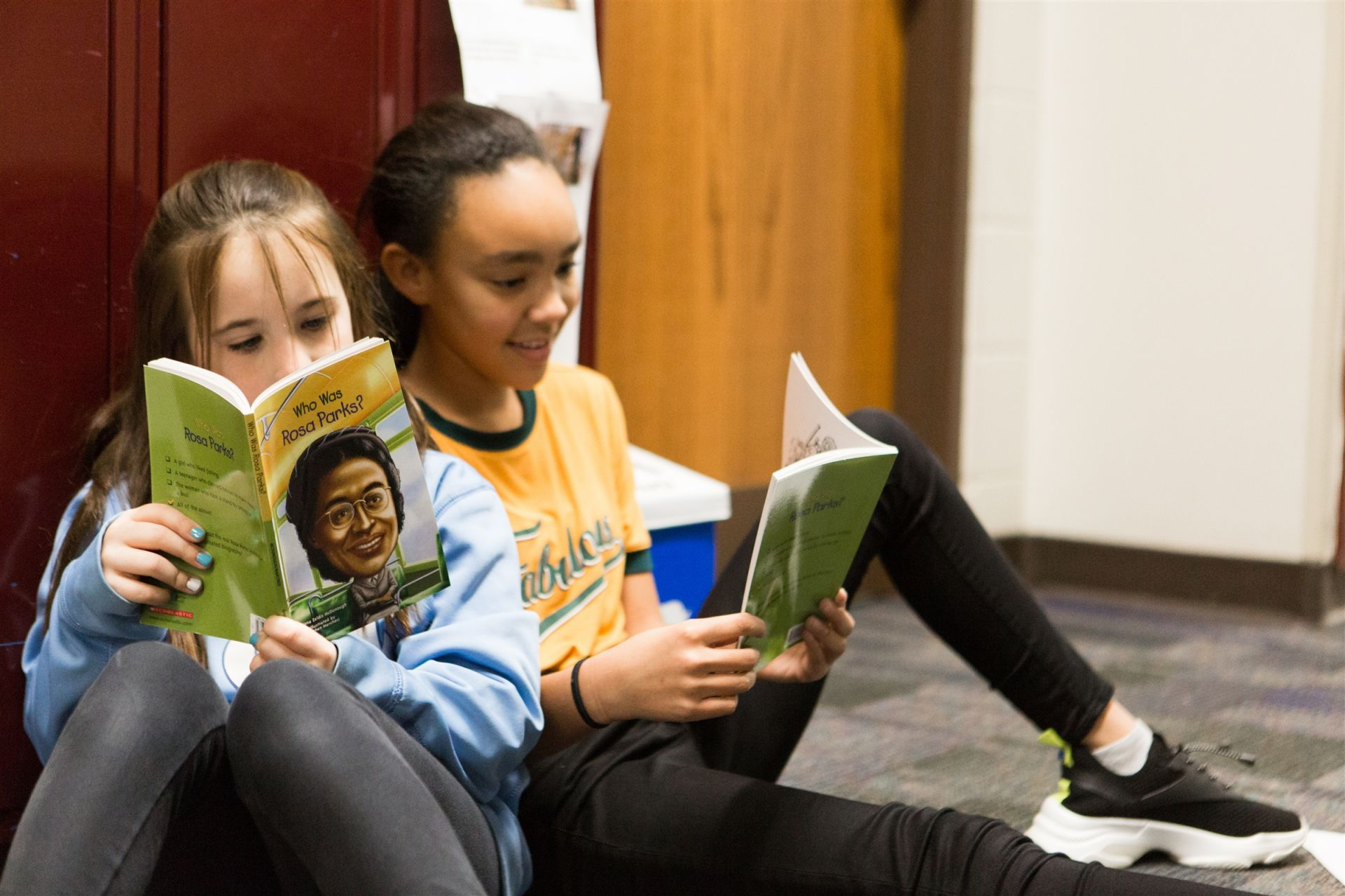 Sometimes the best place to read is the hallway, especially when you have a GREAT book!