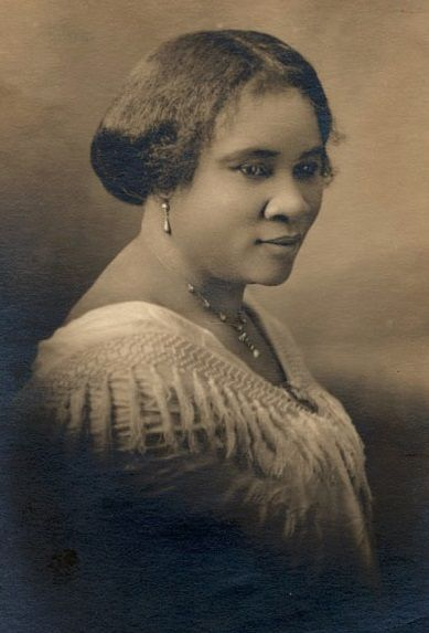 Madame CJ Walker is one of the first African American self-made millionaires. Walker, however, was not the first black millionaire, a title which is often attributed to her. In fact, it was an earlier black millionaire named Annie Malone who gave Walker her start in the hair care business. Her real name was Sarah Breedlove. She was born on a cotton plantation December 23, 1867 in Delta, Louisiana. She had a job in St. Louis that made $1.50 a day. After suffering from a scalp ointment that resulted in her own hair loss, she created a line of African American hair care products including vegetable shampoo in 1905. When she died at the age of 51, she was the wealthiest African American woman in the United States.