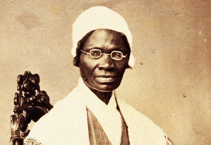 "Sojourner Truth was an African American evangelist, abolitionist, and women's rights activist. Isabella Baumfree was her given name, she felt that her purpose was to speak the truth, which later caused her to change her name to Sojourner Truth.  She was born to slave parents in 1797 and was sold for $100 to a man named John Neely. She was sold two more times. At the age of 13 she ended up with a man named John Dumont and his wife. Sojourner and her daughter, who was an infant, escaped from their slave owner and stayed with an abolitionist family, the Van Wageners.   Truth gained her freedom, became a Christian, and spoke out to end slavery. Once the New York Anti-Slavery Law was passed, her previous owner illegally sold her son, but she was able to file a lawsuit to get him back. Months later, Truth won her case and regained custody. She was known as the first black woman to sue a white man in the U.S. and win. In 1844, Truth joined an abolitionist organization in Massachusetts, which launched her career as an equal rights activist.   In 1851, she gave her most famous speech called ""Ain't I A Woman?"" to show the discrimination she faced as a black woman. Her activism for the abolitionist movement gained the attention of President Abraham Lincoln, who invited her to the White House in October 1864.Truth left behind a legacy of courage, faith, and fighting for what's right and honorable."