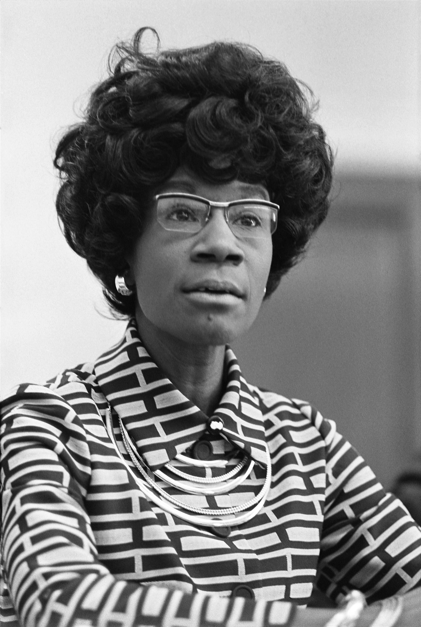 "Shirley Chisholm was the eldest of four daughters. Her parents were immigrants from Barbados. She graduated from Brooklyn College and Columbia Teachers College and went on to be a teacher for six years. She was the second African American to be a member of the New York State Legislature. She is most famous for being the first woman elected to Congress in 1968 and she was the first woman and African American to run for president in 1972. Her life motto was ""Unbossed and Unbought."""