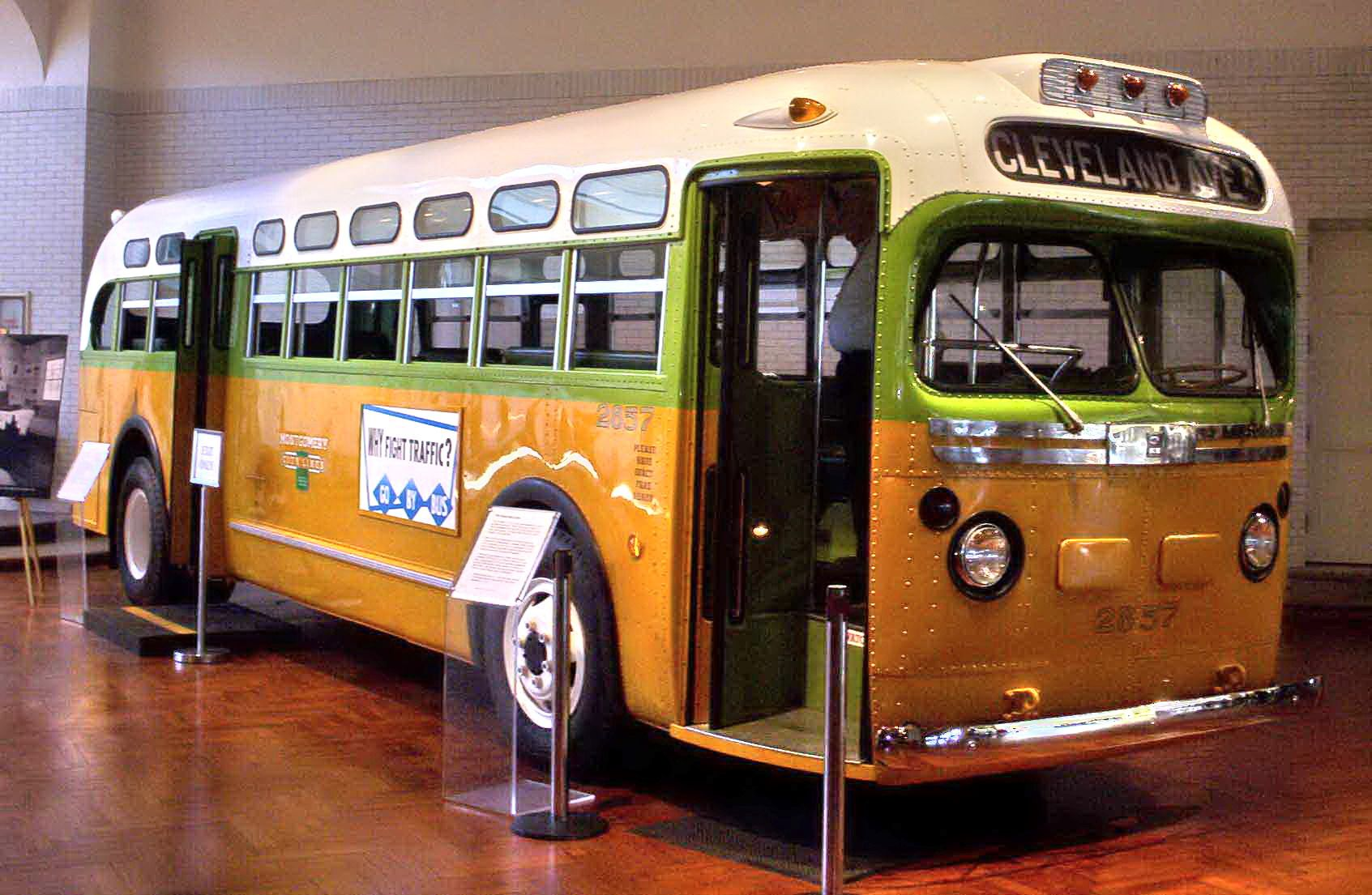 This bus represents the power of nonviolent protest. Rosa Parks may have been weary on a day she was asked to sit in the back of this bus, but her refusal to do so secured her place in history as an important leader for civil rights. We are grateful for her work for equal rights for all people.