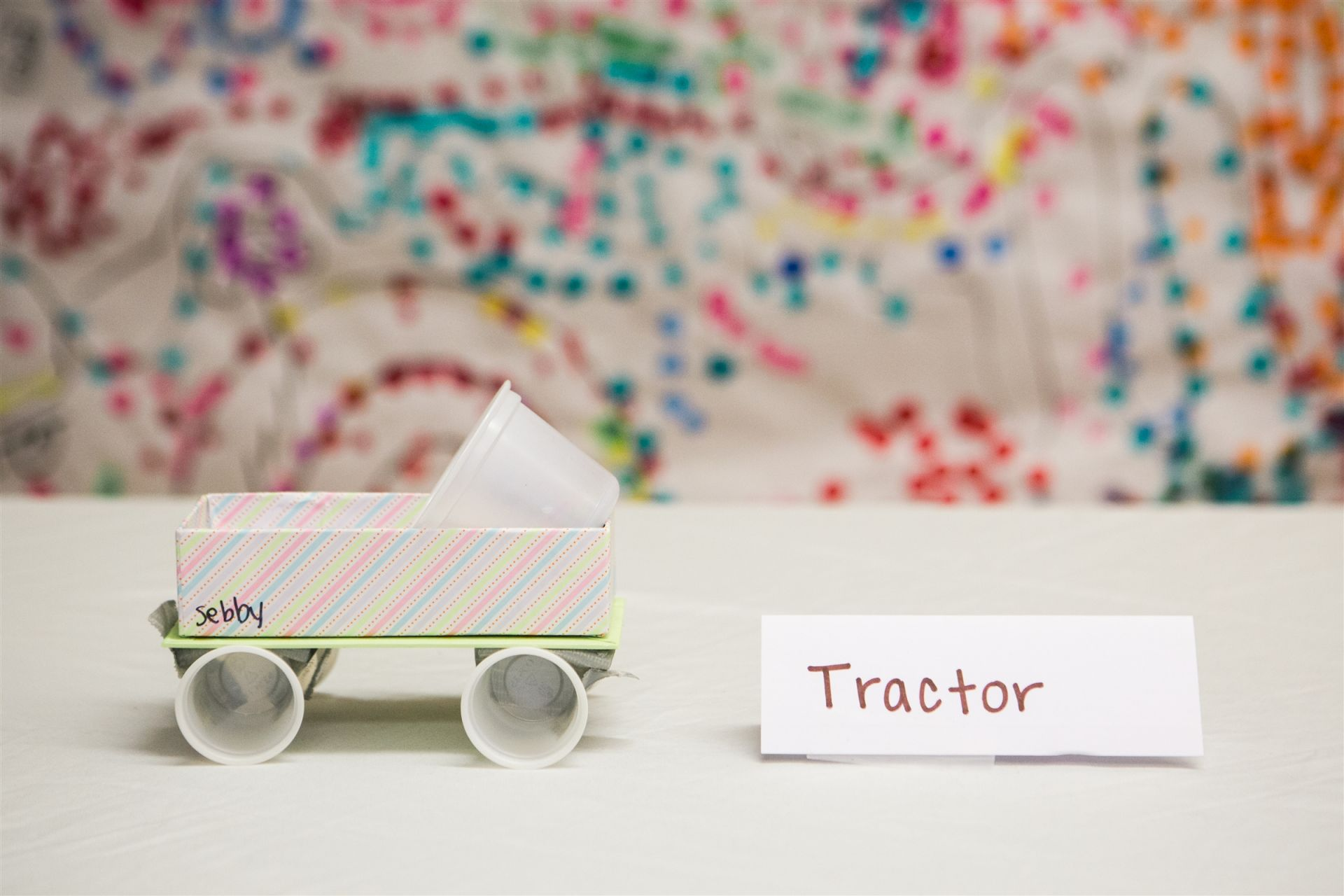 "Why did you make a tractor? ""Because they have trailers and they're pretty."""