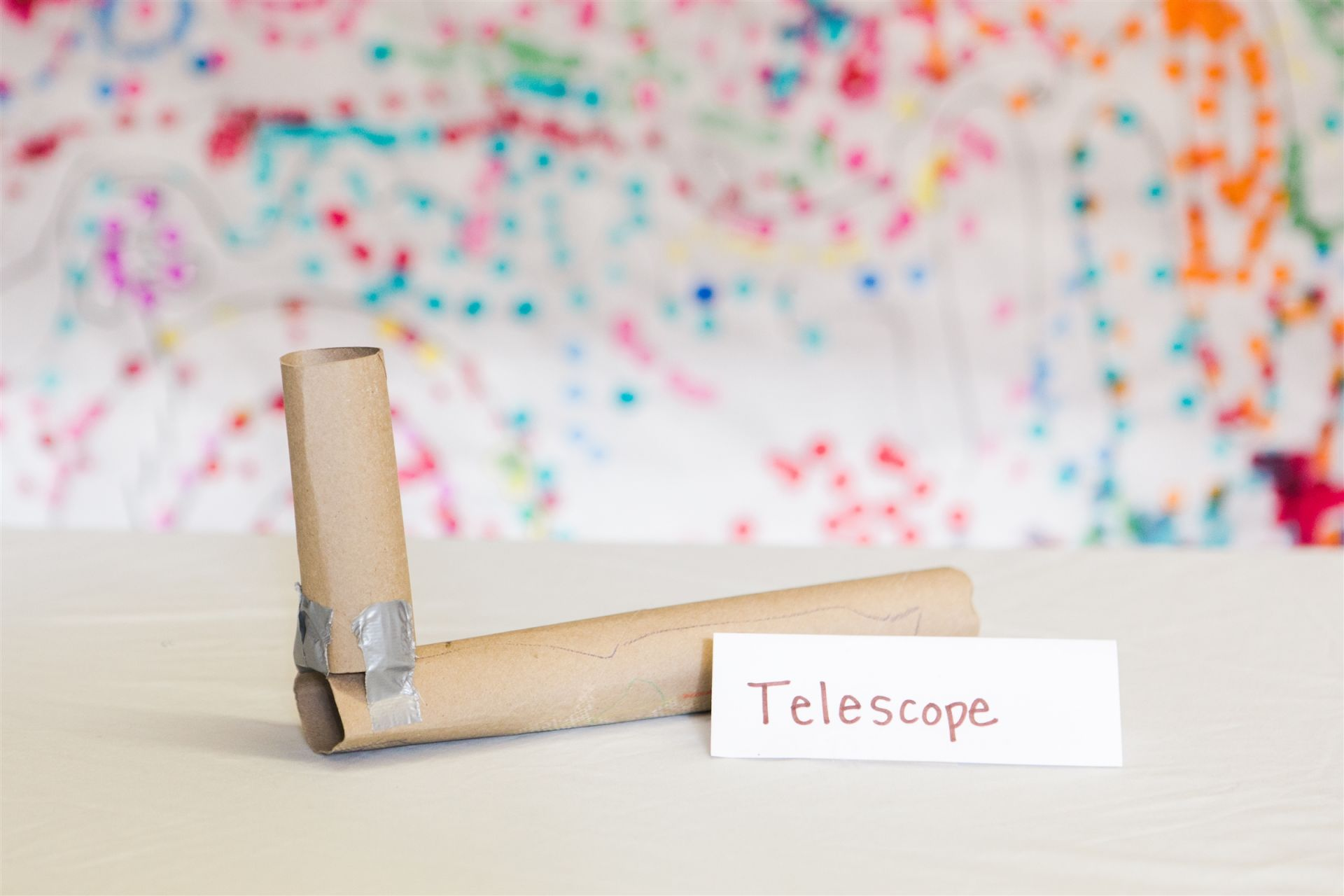"Why did you make a Telescope? ""So I can see the stars."""