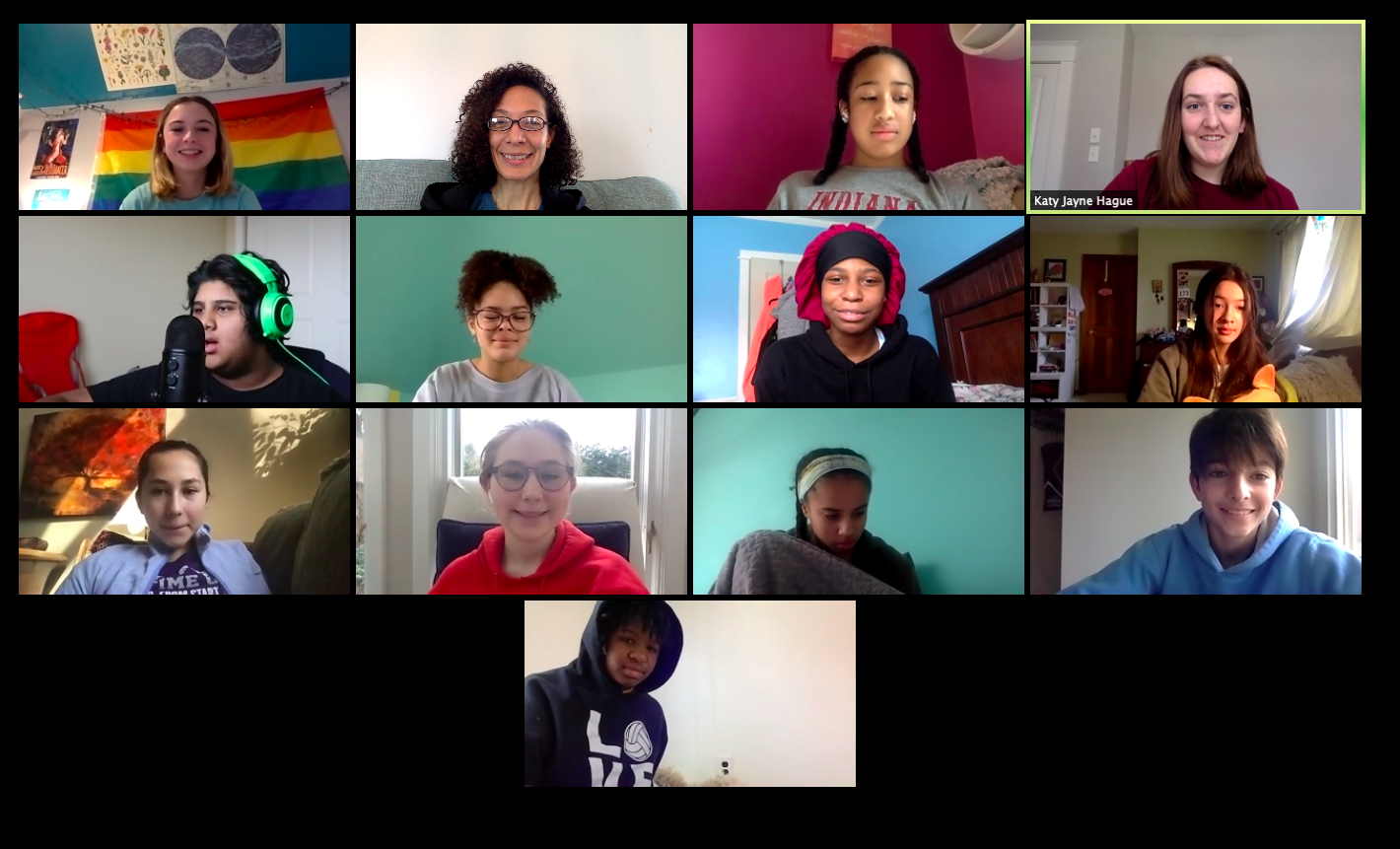 People of Color | LGBTQIA+ Student Union Zoom meeting with Orchard's Dean of Diversity, Equity, and Inclusion Lisa Pryor.