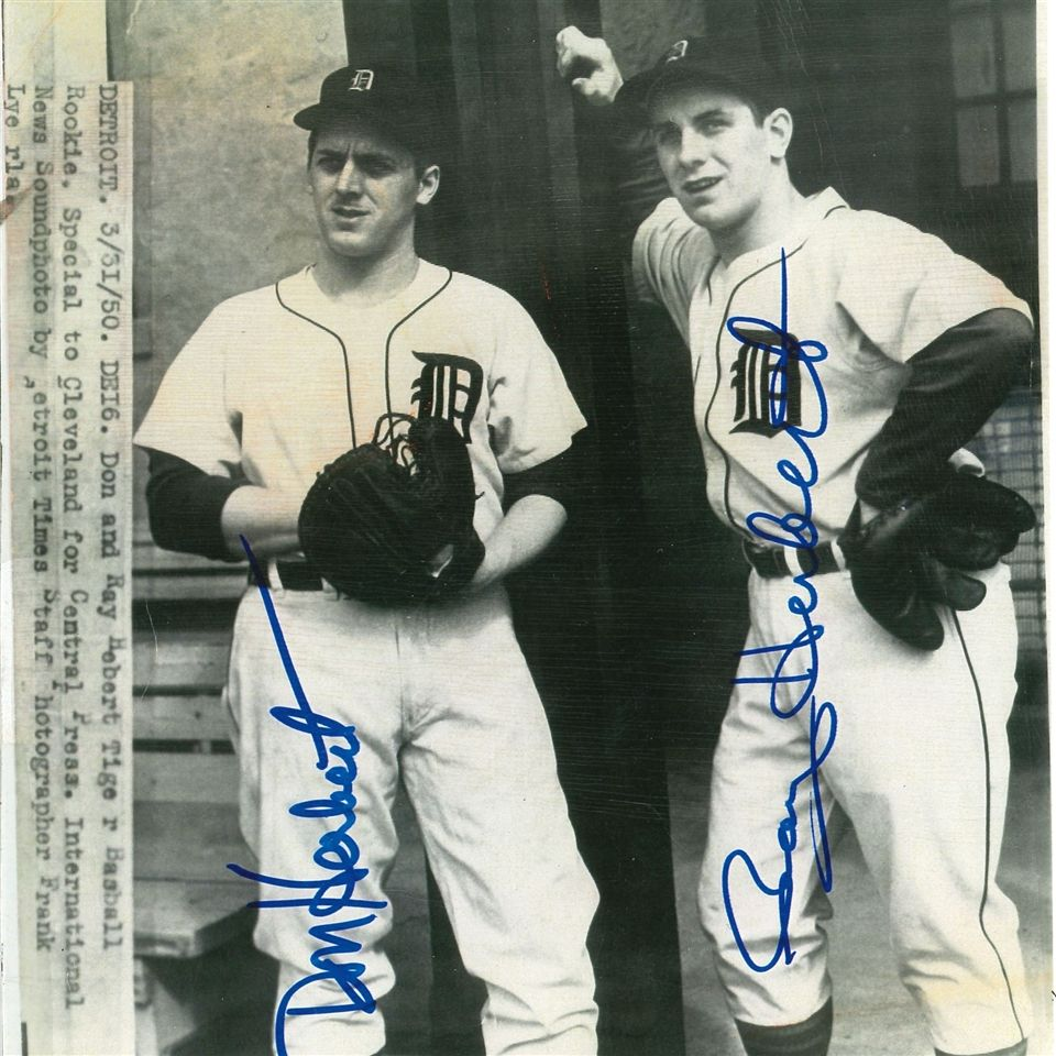Left to Right: Don '47 (deceased) and Ray '48 in their Detroit Tigers Jerseys