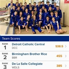 Congratulations to the Swimming and Diving team!