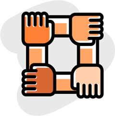 locked arms icon