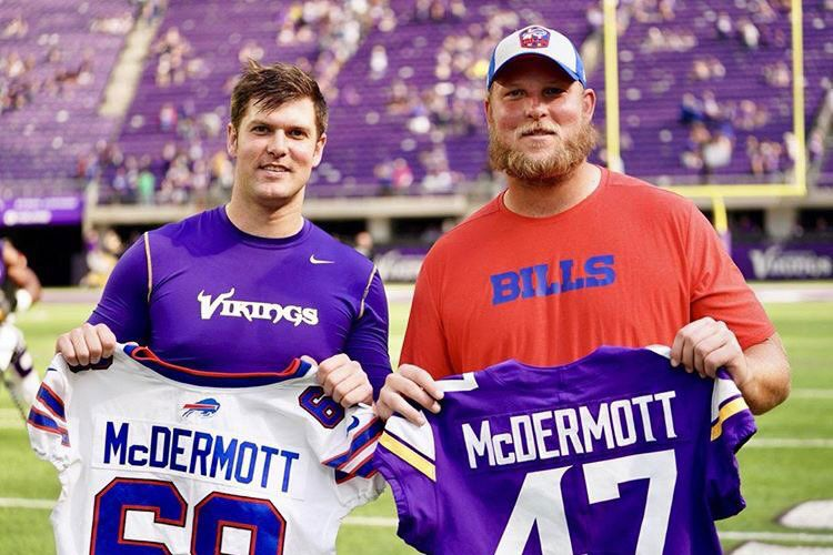 Kevin and Conor McDermott Vikings Bills