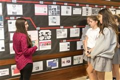 Emily Parrelli talks to students about Civil Rights