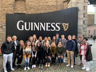 In front of Guinness Brewery (no tasting allowed)