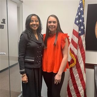For her minimester career exploration, junior Audrey Coleman worked with Joel-lyn McCormick who is an Assistant United States Attorney.