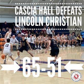 The Cascia boys triumphed over Lincoln Christian on Friday night, 53-35.