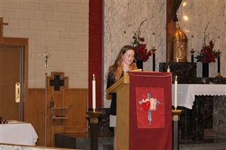 On Thursday, the Our Father was recited in German by Lydia Bodi.