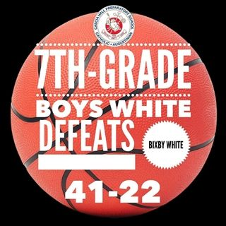 The 7th-grade boys white basketball team defeated Bixby on Saturday, 41-22! Way to go!