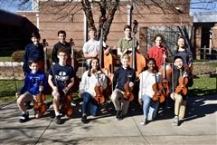Students who earned chairs to the Jr. Western Regional Orchestra Festival (missing Olivia Gornik & Kaeden Palmer)
