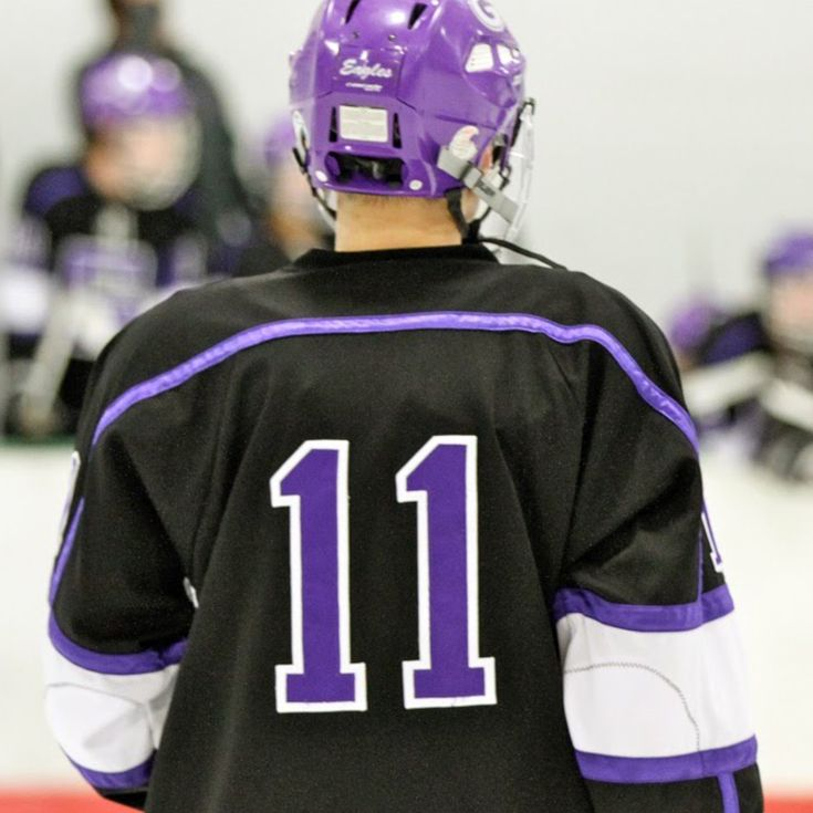 Dominick Pettey Purple White Hockey Game