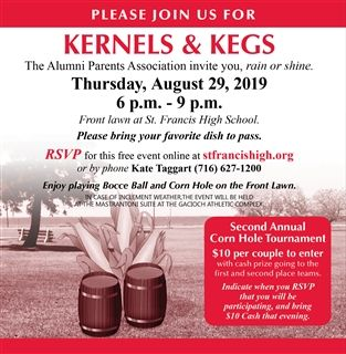 Alumni Parents Kernels & Kegs RSVP