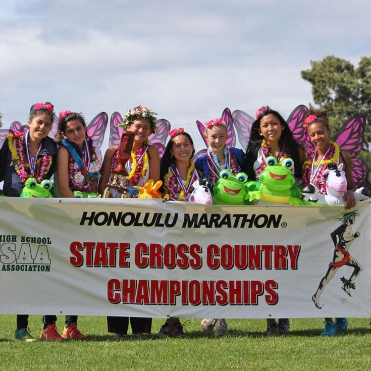 Girls Cross Country Team Win States