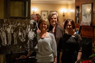 Members of Brookwood School's first graduating class of 1974 gathered with many to celebrate the school's 50th academic year. Left to right, Susan Secrest Waters, Lib Lanigan Olson, Cheryl Miller Harrison.