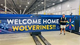 Sergio Morales '16 helped launch a brand-new fulfillment center for Walmart outside of Atlanta, Ga.