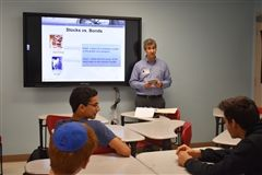 Students learn about the stock market during Rosenblatt High School's annual Minimester