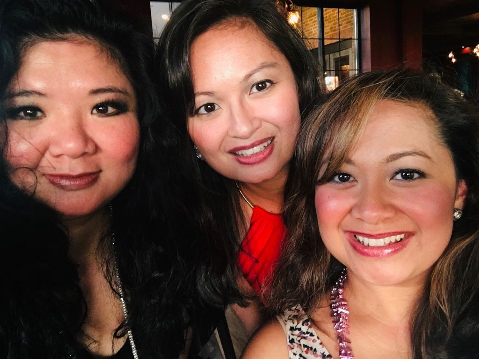 The Cueto sisters, from left to right, Jennifer Cueto Gequillana, DSHA '89; Jane Cueto Leh, DSHA '93; and Josephine Liezl Cueto Sampang, DSHA '97