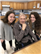 Ann Druml, DSHA, '18 (left) and Madi Daleiden, DSHA '18 (right) pose with a new friend from their two weeks spent at the 92nd Street Curative Care.