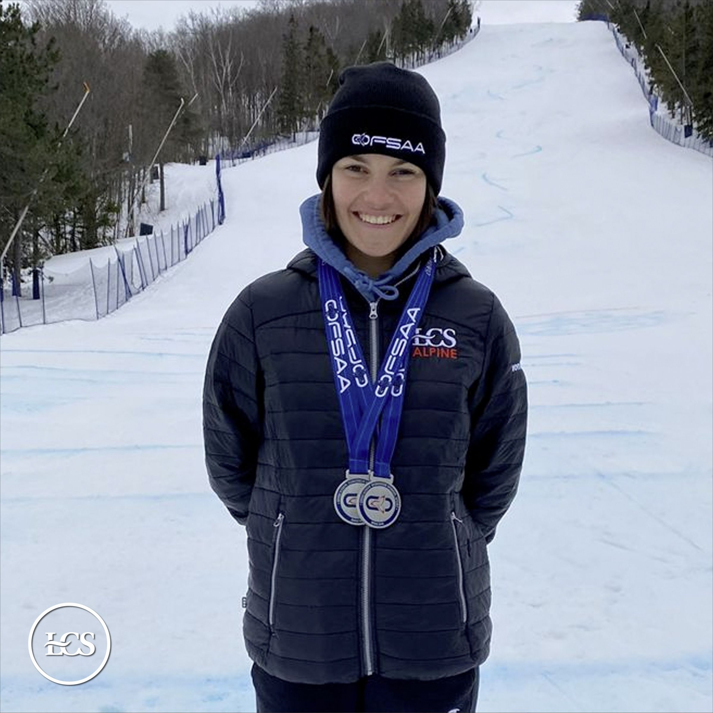 Antonia '23 Wins Double Silver at the OFSAA Alpine Championship
