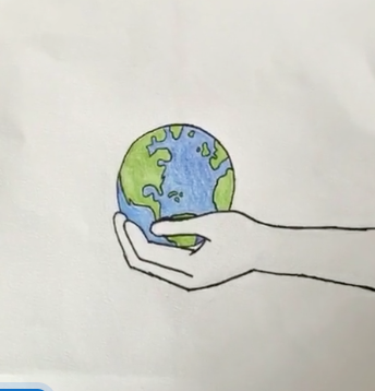 Earth Day Drawing by Avery Gray '26